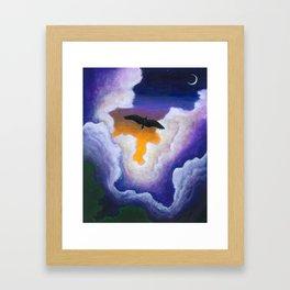 Soaring Through the Clouds -The Groundbird Framed Art Print
