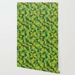 Tetris Camouflage Forest Wallpaper