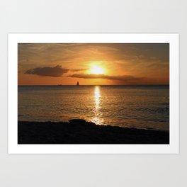 Seduced by the Sun Art Print