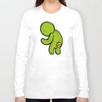 butt Long Sleeve T-shirts featuring Butt-On by Artistic Dyslexia