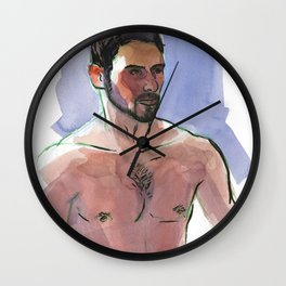 COLBY, Semi-Nude Male by Frank-Joseph Wall Clock