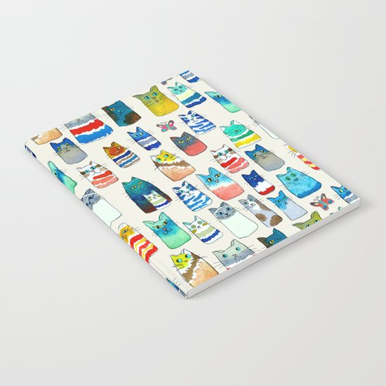 Lots of Watercolor Kitty Cats Notebook