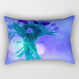 A Blue Bloom for Spring Rectangular Pillow