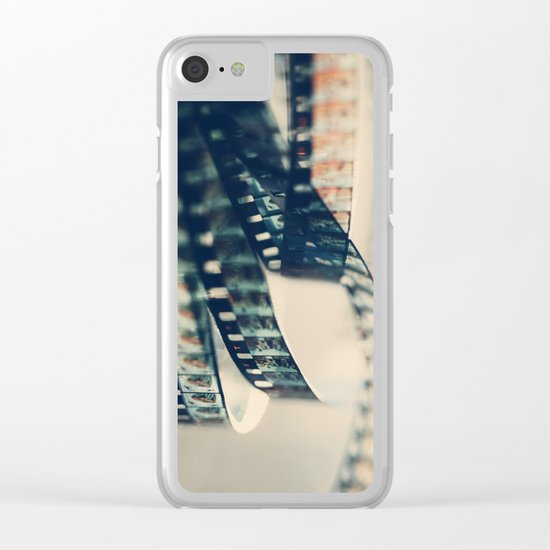 super 8 film Clear iPhone Case