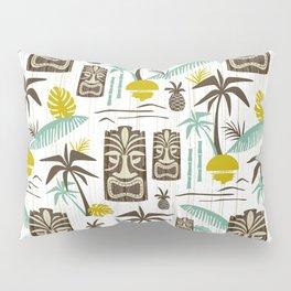 Island Tiki - White Pillow Sham