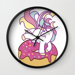 Unicorn and donut Wall Clock
