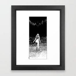 asc 846 - La ronde d'argent (Ascending Venus) cliped Framed Art Print