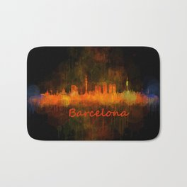 Barcelona City Skyline Hq _v4 Bath Mat