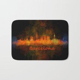 Barcelona City Skyline Hq _v4 Bath Mat