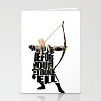 legolas Stationery Cards featuring Legolas - Orlando Bloom by Ayse Deniz
