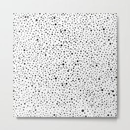 Polka Dots | Black and white pattern Metal Print