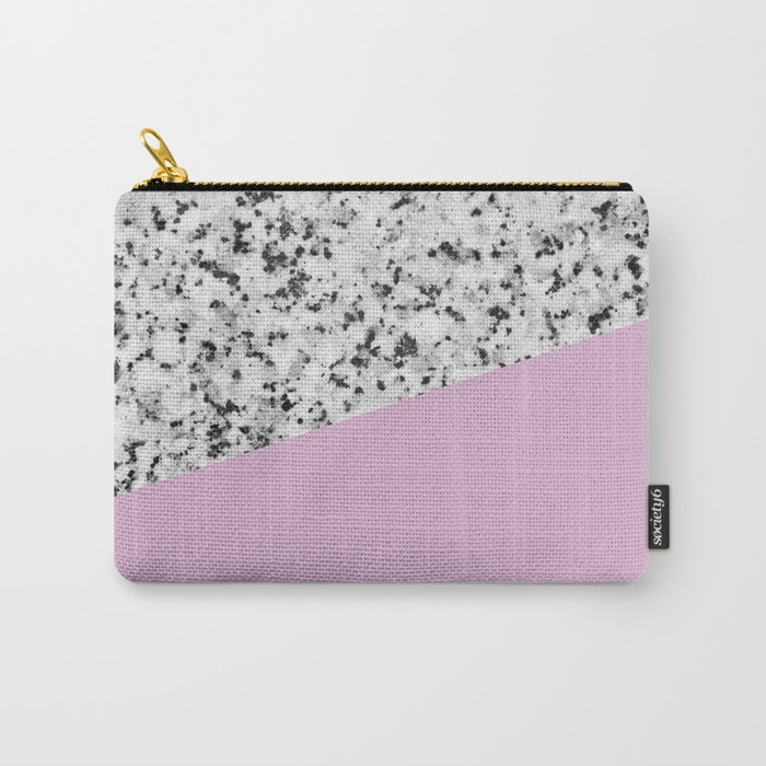 Granite with Pink Lavender Color Carry-All Pouch