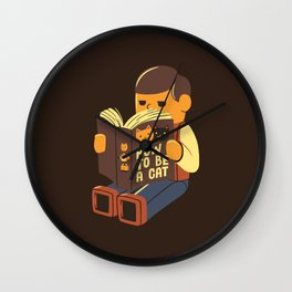 How To Be a Cat Wall Clock