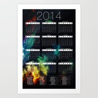 calender Art Prints featuring Jan C.P. Luna - 2014 Calender Poster - #2 by Jan  C.P. Luna