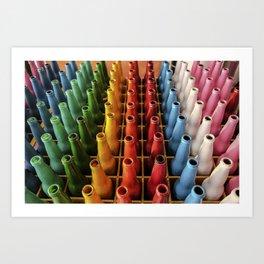Rainbow Botellas Art Print