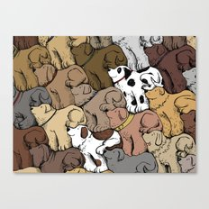Dog Tessellation Canvas Print