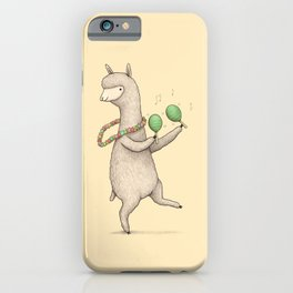 Alpaca on Maracas iPhone Case