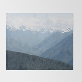 Olympic Mountains Throw Blanket