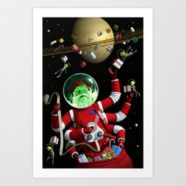 In space no one can hear you jingle Art Print