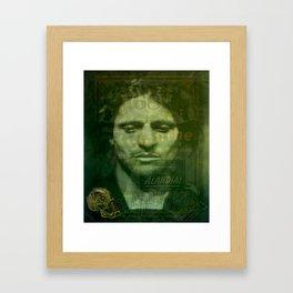Absinthe, Vintage Advertisement Collage Framed Art Print