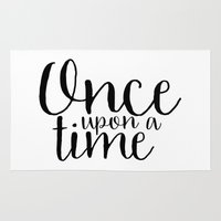 once upon a  time Area & Throw Rugs featuring Once Upon a Time by bookwormboutique