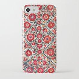 Kermina Suzani Uzbekistan Embroidery Print iPhone Case