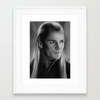legolas Framed Art Prints featuring Legolas Greenleaf by Art by Ana Mendes