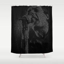 Shadowplay: Ian Curtis Shower Curtain