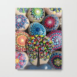 Dot art Painted Stones Collection 2 Metal Print