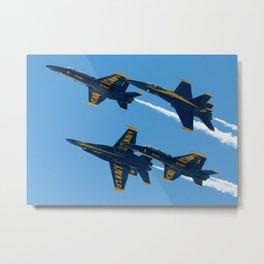 Blue Angels Diamond Break Metal Print
