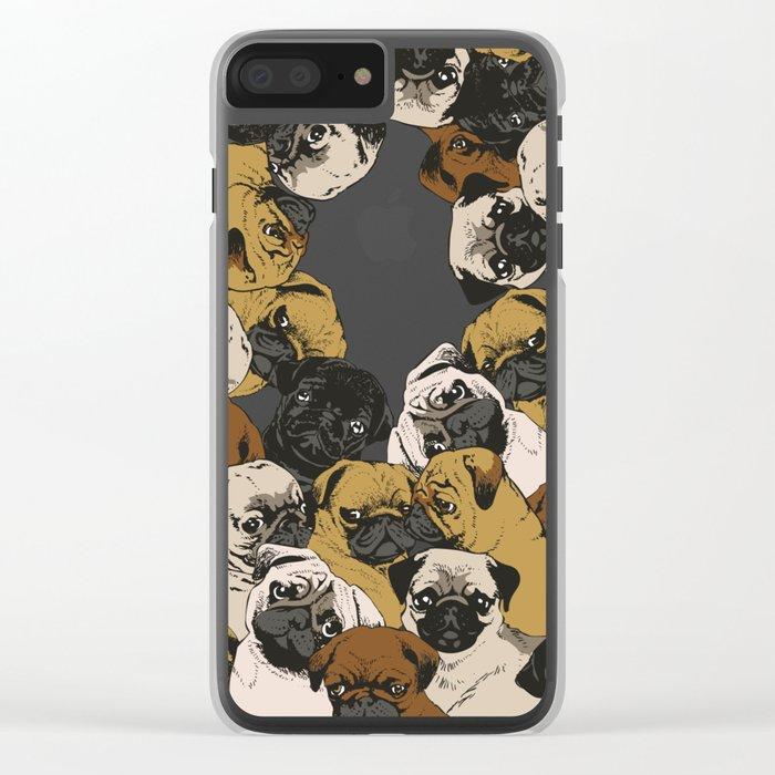 Social Pugz Clear iPhone Case