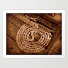 Rope on a boat Art Print