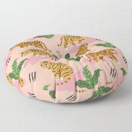 Vintage Tiger Print Floor Pillow