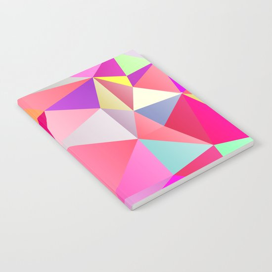 Pink Polygons Notebook