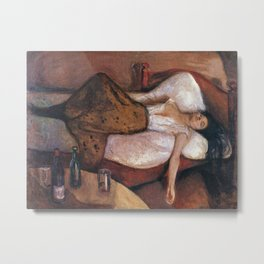 Edvard Munch - The Day After Metal Print