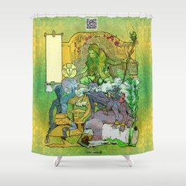 Bloom: An Awakening - The Holy Divinity Marius Janus Gifting the Bloom Shard Shower Curtain