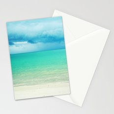 Blue Turquoise Tropical Sandy Beach Stationery Cards