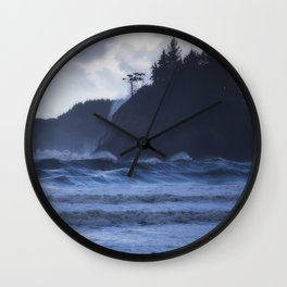 Storm Waves at Trinidad Beach Wall Clock