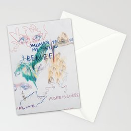 Abstract Colored Pencil Infodump #1 Stationery Cards