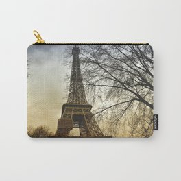 Winter sunset near the Eiffel tower in Paris Carry-All Pouch