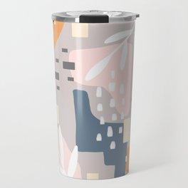 Any Which Way, Abstract Art Color Blocks Pastels Travel Mug