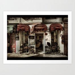 Lé Cafe Art Print