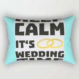 wedding time keep calm Bw8cz Rectangular Pillow