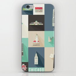Chicago Landmarks iPhone Skin