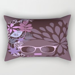 Afro Diva Lavender Purple-Taupe Rectangular Pillow
