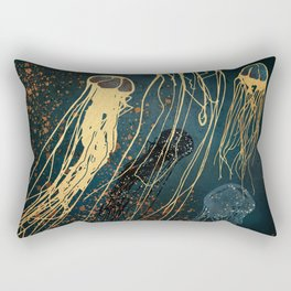 Metallic Jellyfish Rectangular Pillow