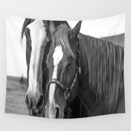 Sisters in B&W Wall Tapestry