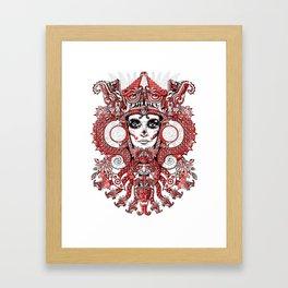 Red Serpent Queen Framed Art Print