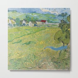 View of Vessenots Near Auvers by Vincent Van Gogh Metal Print