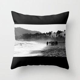 Santa Barbara Beach Throw Pillow